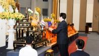 """งานวันครบรอบสถาปนามหาวิทยาลัยเทคโนโลยีราชมงคลธัญบุรี """"มทร.ธัญบุรี สร้างสรรค์วิชาการ สร้างงานสู่สังคม"""" วันที่ 18-20 มกราคม 2556 (ภาพพิธีสงฆ์ )  ภาพถ่ายโดย : กองประชาสัมพันธ์"""