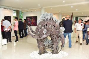 นายวิรัช โหตระไวศยะ รักษาราชการแทนอธิการบดี มทร.ธัญบุรี เปิดการแสดงนิทรรศการ The Union Arts & Design Exhibition