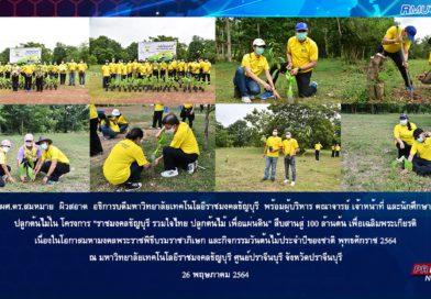 ราชมงคลธัญบุรี รวมใจไทย ปลูกต้นไม้ เพื่อแผ่นดิน